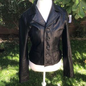 Wilsons Vintage Maxima Leather Moto Jacket